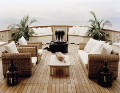 Outdoor living, on a boat!