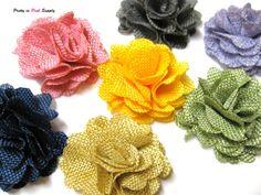 Burlap FlowersChoose 1025 Burlap by PrettyInPinkSupply on Etsy, $11.95