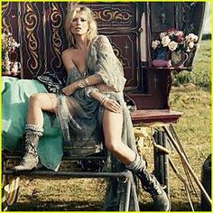kate moss is an icon of boho style
