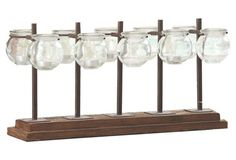 """22"""" 10-Vessel Candleholder, Brown"""
