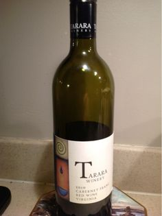 One of the Virginia wines that recently received 90 points from Wine Enthusiast was the Tarara 2010 Cabernet Franc.