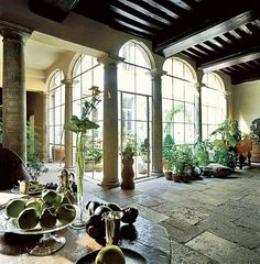 the entrance hall of designer axel vervoordt& former residence, a complex of medieval houses in antwerp Architectural Digest, Architectural Antiques, Axel Vervoordt, Medieval Houses, Stone Cladding, Spanish Style, Interior And Exterior, Interior Architecture, Interior Design