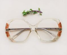 8b54dac6e5c1 70s French eyeglasses / Vintage deadstock hand carved floral frames /  lucite flower butterfly sunglasses / Designer clear NOS hippie Eyewear