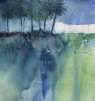 Image associée Abstract Landscape Painting, Landscape Drawings, Landscape Illustration, Watercolor Landscape, Abstract Watercolor, Watercolor And Ink, Watercolor Illustration, Landscape Art, Landscape Paintings