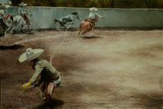 """""""MANGANAS A PIE 2"""", ÓELO SOBRE TELA, 60X90 CMS., 2013."""