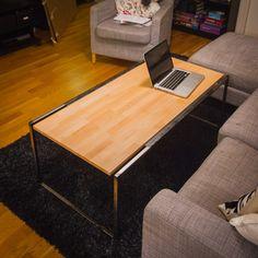 Steel and beech coffee table Decor, Furniture, Corner Desk, Table, Home Decor, Steel, Beech Coffee Table, Coffee Table