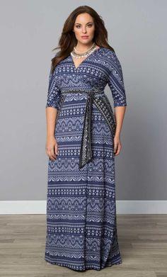 Moroccan Maxi Wrap Dress