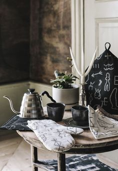 The beautiful new collection of home textiles by Finnish design duo Saana ja Olli. Hemp Fabric, Modern Times, Prehistory, Wabi Sabi, Shopping Hacks, Home Textile, Printing On Fabric, How To Draw Hands, Sweet Home