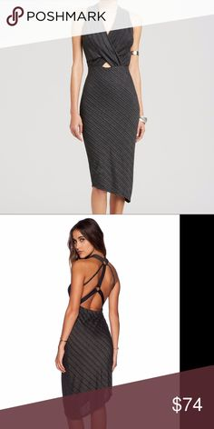 Spotted while shopping on Poshmark: Free People Gray Temptress Bodycon Dress Size S! #poshmark #fashion #shopping #style #Free People #Dresses & Skirts