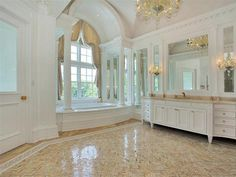 The master bathroom of a gorgeous $56000000 mansion.