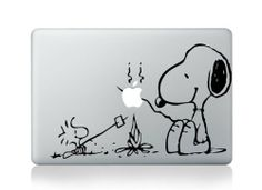 Snoopy by Camp Fire Macbook 13 15 inch decal sticker Aufkleber / sticker for Apple Laptop von Bubble Bath Media, http://www.amazon.de/dp/B0072WX9MU/ref=cm_sw_r_pi_dp_Y-Xxsb1JCK6F2