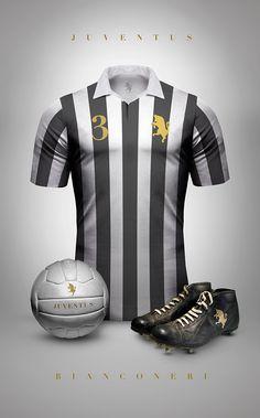 Vintage Clubs II on Behance - Emilio Sansolini - Graphic Design Poster - Juventus - Bianconeri Soccer Kits, Football Kits, Sport Football, Football Jerseys, Free Football, Juventus Italia, Juventus Fc, Juventus Stadium, Camisa Retro