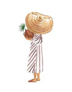 Kala Art Print by Sabina Fenn Illustration - X-Small Art Et Illustration, Illustrations, Minimalist Art, Painting Inspiration, Diy Art, Painting & Drawing, Watercolor Paintings, Watercolour, Art Projects