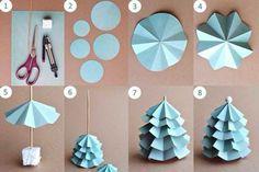 basteln mit papier tannen