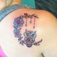 super cute owl tattoo 🐥💛📌🐥💛📌🐥💛📌 #girltattoos