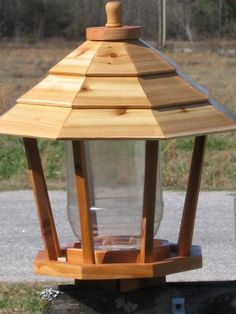 Cedar Gazebo Style Bird Feeder sold by The Cultured Cat. Shop more products from The Cultured Cat on Storenvy, the home of independent small businesses all over the world. Large Bird Feeders, Wooden Bird Feeders, Diy Bird Feeder, Hot Tub Gazebo, Backyard Gazebo, Large Gazebo, Bird Feeder Plans, Cedar Roof, Bird House Plans