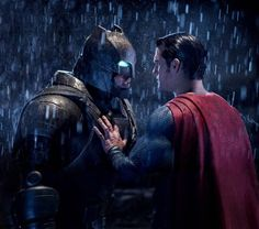 "Ben Affleck and Henry Cavill star in ""Batman v. Superman: Dawn of Justice."""
