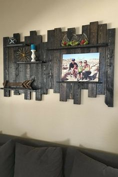 Reclaimed Wood Wall Shelf, Reclaimed Wood Wall Decor, Wood Shelf, Pallet Wall, Reclaimed Shelf, Rustic Wood Shelves, Rustic Wall Shelves (sponsored)