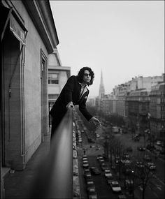 Singer Michael Hutchence is photographed for the Observer on February 10, 1997 in Paris, France.