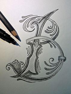 Sketch - Letter B