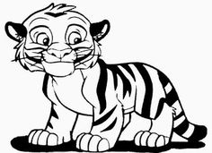 Kids Page Baby Tiger Coloring Pages