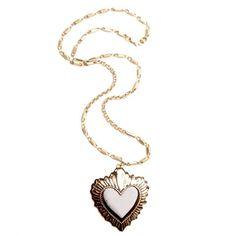 Ivory Leather sacred heart Pendant by rosita bonita