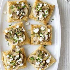 Mini Mushroom and Goat Cheese Tarts - Allrecipes.com