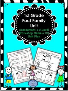 Grade Differentiated Game, Unit Outline CC aligned, and a formal assessment with answer key Creative Teaching, Teaching Math, Teaching Ideas, Math Work, Fun Math, Cooperative Learning, Fun Learning, 1st Grade Math, First Grade