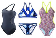 There's nothing worse than wearing a cute swimsuit you adore, only to find that slips off the minute you try to do anything remotely athletic. Try these sporty, stylish swimsuits.