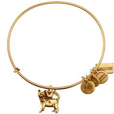 Alex and Ani Monopoly Cat Charm Wire Bangle ($15) ❤ liked on Polyvore featuring jewelry, bracelets, gold, expandable wire bangle, wire bangle bracelet, bracelet charms, cat charm and alex and ani charms