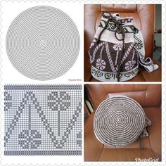 Tapestry Bag Tapestry Crochet Crochet Handbags Filet Crochet Plastic Canvas Cross Stitch Embroidery Purses And Bags Coin Purse Needlework Tapestry Crochet Patterns, Crochet Mandala Pattern, Crochet Lace, Crochet Stitches, Knitting Patterns, Crochet Handbags, Crochet Purses, Mochila Crochet, Yarn Bag