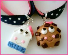 BFF Best Friends Milk and Cookies Ribbon Necklace Set. $15.00, via Etsy.  cute and creative