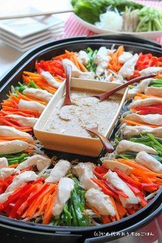 ホットプレートでバンバンジー! 野菜たっぷりヘルシーレシピ | かめ代オフィシャルブログ「かめ代のおうちdeごはん」Powered by Ameba