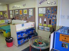 Water table House corner - mothers and babies Eyfs Classroom, Classroom Layout, Classroom Organisation, Classroom Setting, Classroom Decor, Organisation Ideas, Teaching Displays, School Displays, Classroom Displays