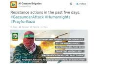 Hamas tweet: Hamas has been using a range of hashtags to promote its tweets