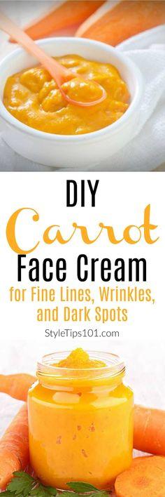 DIY Carrot Face Cream