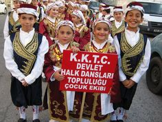 Turkish Cypriot children, dressed in traditional clothing, preparing for a folk-dance show. ◆Northern Cyprus - Wikipedia http://en.wikipedia.org/wiki/Northern_Cyprus #Northern_Cyprus