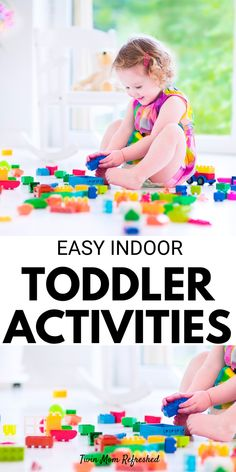 Easy indoor toddler activities for 1 year olds, 2 year olds, and 3 year olds. Low prep and fun activities for toddlers to do at home! Outdoor Activities For Toddlers, Activities For 1 Year Olds, Preschool Learning Activities, Indoor Activities, Educational Activities, Infant Activities, Preschool Ideas, Toddler Fun, Toddler Preschool