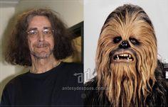 Peter Mayhew como Chewbacca al 4 Star Wars