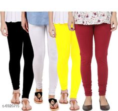 Leggings & Tights  Fancy Fashionista Women Leggings  Fabric: 100% Pure Cotton Lycra Pattern: Solid Multipack: 4 Sizes:  30 (Waist Size: 30 in Length Size: 40 in)  32 (Waist Size: 34 in Length Size: 40 in)  34 (Waist Size: 34 in Length Size: 40 in)  36 (Waist Size: 36 in Length Size: 40 in)  38 (Waist Size: 38 in Length Size: 40 in) Country of Origin: India Sizes Available: Free Size, 28, 30, 32, 34, 36, 38   Catalog Rating: ★3.9 (508)  Catalog Name: Fancy Fashionista Women Leggings CatalogID_1104989 C79-SC1035 Code: 964-6920715-7911