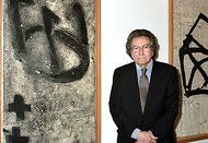 Antoni Tàpies, a largely self-taught Spanish abstract painter whose seductive, tactile surfaces, often scratched with mysterious graffiti-like marks, made use of unconventional materials like marble dust, ground chalk, sand and earth, died on Monday in Barcelona. He was 88.