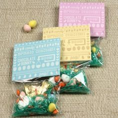 Easter Candy Bag Top Printables - 40 Crafty Easter Printables for Perfect Holiday Projects