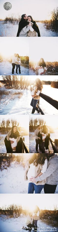 winter maternity picture ideas