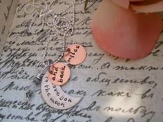I Love You To The Moon And Back  Hand by DanielleJoyDesigns, $36.00
