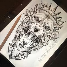 I have this design available since me and my client decided to give it another a. - I have this design available since me and my client decided to give it another a… - Tattoo Girls, Girl Face Tattoo, Face Tattoos, Leg Tattoos, Body Art Tattoos, Girl Tattoos, Sleeve Tattoos, Tattoos For Women, Tattoos For Guys