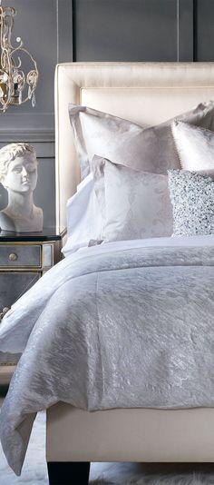 Decima Reversible Duvet Cover #bedding #luxurybedding #designerbedding #bedroomideas #decoratingideas #masterbedroom #duvetcovers #comforters #luxe #glamorous