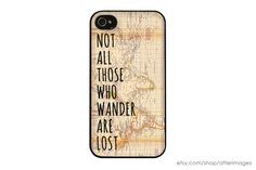 Tolkien iPhone Case / Not All Those Who Wander are by afterimages