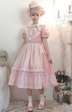 Harajuku Fashion, Kawaii Fashion, Lolita Fashion, Girls Petticoat, Romantic Outfit, Romantic Clothing, Estilo Lolita, Pastel Fashion, Japanese Street Fashion