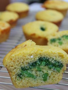 We could all eat just a little more broccoli, right? Now, the vegetable is wonderful just on its own or even better with a little lemon and butter but the more places I can sneak in broccoli, the better! This isnt the first thing I have snuck into a corn muffin. It is great with an egg inside. But today is about broccoli.