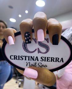 Disney Acrylic Nails, Pink Acrylic Nails, Pastel Nails, Pink Nails, Simple Acrylic Nails, Cute Simple Nails, Cute Nails, Pretty Nails, Fancy Nail Art